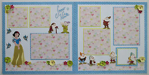 Premade Disney (2)12x12 Scrapbook Pages/Layout - Snow White & The 7 Dwarfs