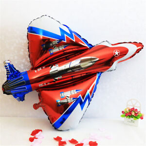 Fighter-Plane-Foil-Balloons-Inflatable-Birthday-Party-Supply-Outdoor-Kids-WA