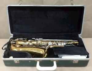 Selmer Bundy Alto Saxophone Brass with case/accessories, USA, Good Condition
