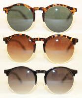 Retro Sonnenbrille 50er Jahre schwarz leo rund Vintage Brille Oversize 636