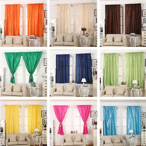 THERMAL BLACKOUT CURTAINS EYELET RING TOP READY MADE CURTAIN FREE TIE BACKS