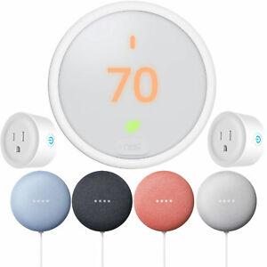 Google-Nest-Learning-Thermostat-E-Nest-Mini-Gen-2-2-Pack-Deco-Smart-Plugs