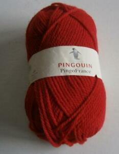 PINGOUIN-PINGOFRANCE-RED-LOT-OF-18-BALLS-DK-WEIGHT-50-WOOL-50ACRYLIC