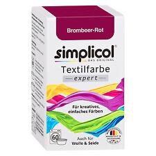 SIMPLICOL Textilfarbe EXPERT BROMBEER ROT 150g Farbe auch für Wolle & Seide