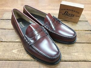ac2cc9e3342 G. H. Bass   Co    Weejuns    Larson Moc Penny Loafers Wine    NEW ...