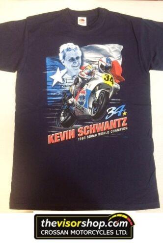 "/""Kevin Schwantz #34/"" 500cc World Champion 1993  T-SHIRT M Medium Blue"