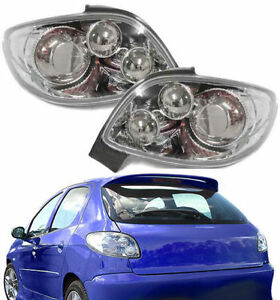 chrome look rear lights for peugeot 206 cc coupe cabriolet