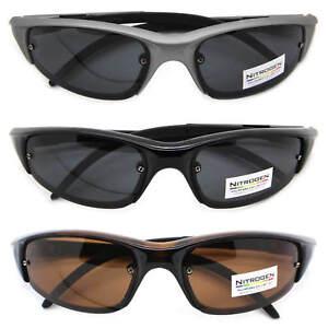 89d1505dcf8 Details about Nitrogen Polarized Lens Rectangular Sports Wrap Men  Sunglasses Running Cycling