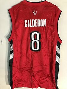 772b01cd7 Adidas NBA Jersey Toronto Raptors Jose Calderon Red Throwback sz XL ...