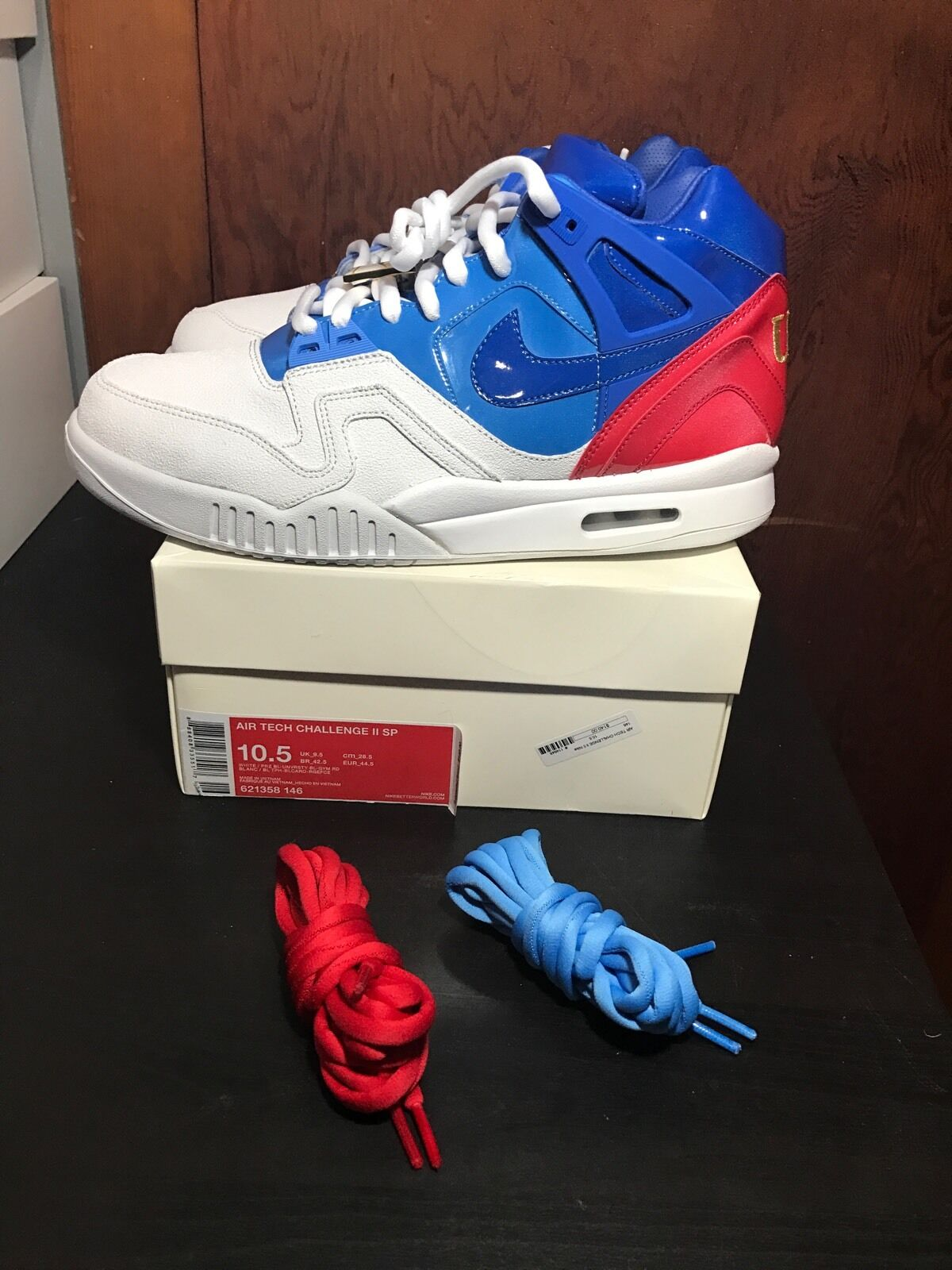 Nike air tech challenge ii sp aprire sz 621358-146 francese andre agassi usa