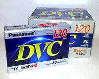 5 Panasonic Dvc 80 Ay-dvm80ej Mini Dv Video Tapes (dvc80)