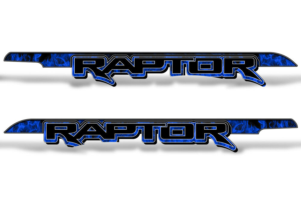 62   X 7.25   Ford F150 Raptor Grafik Bett Aufkleber Lkw 15-18 Flammen Blau