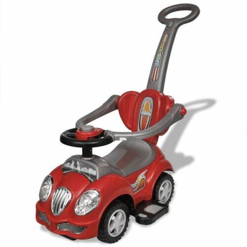 Rutschauto mit Schubstange Rutscher Lauflernwagen Kinderfahrzeug Kinderauto
