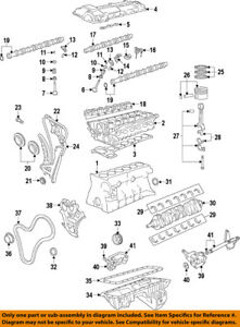 bmw oem 06 15 z4 engine oil pan gasket 11137548031 ebay rh ebay com BMW 328I Engine Diagram BMW 540I Engine Diagram