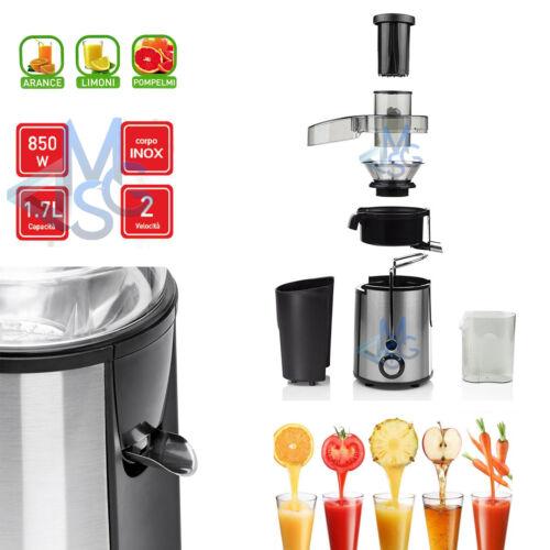 Centrifuga Estrattore di Succo per Frutta e Verdura 850W Acciaio Inox 2 Velocità