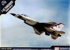 12429 Academy Escala 1/72 Kit Modelo F-16c Thunderbirds 2009/2010 Airfix Nuevo