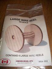Osborn Model Kits HO Scale Large Wire Reels 4 pack RRA-1032 Bob The Train Guy