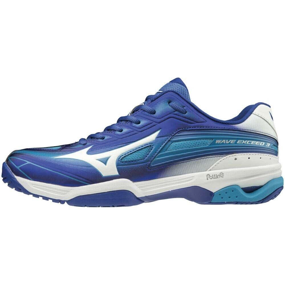 Zapatos tenis Mizuno Wave exceder de 3 de ancho OC 61GB1913 Azul × × blancoo azul claro