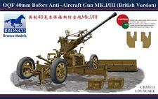 Bronco Model kit 1/35 British Army OQF Bofors 40mm Anti-Aircraft Gun Mk.I/III