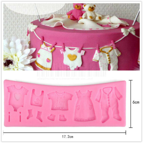 Clothes Style Silicone Fondant Mould Cake Decorating Chocolate Baking Mold Tool