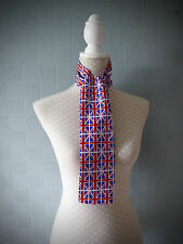 Union Jack flag scarf, UK flag skinny scarf, Union Jack Mod Scarf