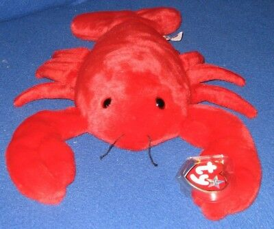 MINT with MINT TAGS TY PINCHERS the LOBSTER BEANIE BABY
