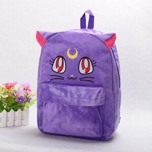 Sweet-Girls-Purple-Luna-Cat-School-Bag-Harajuku-Anime-Sailor-Moon-Backpack