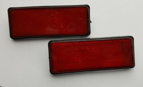 90MM X 35MM RED RECTANGLE REFLECTORS CAR TRAILER x2