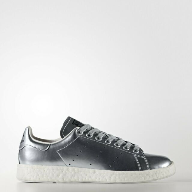 ADIDAS ORIGINALS STAN SMITH W BB0108 BOOST WOMENS SHOES SNEAKERS SILVER METALLIC