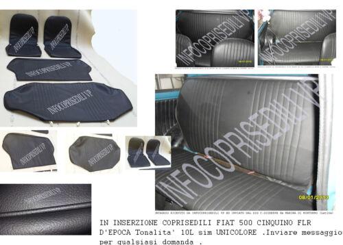 disponibili anche 500 R FIAT 500 L EPOCA COPRISEDILI COMPLETI NERO 10L sim UNI