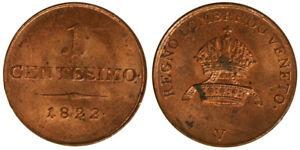 1 Cent 1822 V Deutsches Lombardo Veneto Q. Fdc / Fdc #2463a