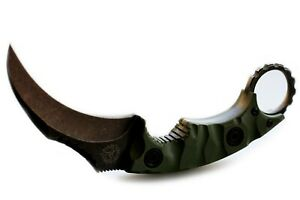 Strider D2 steel Karambit fixed knife Tactical Survival Camping Hunting sheath