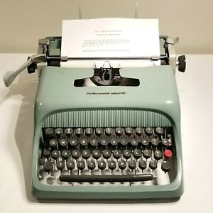 1952 Olivetti Underwood Studio 44 Typewriter, No Case, Working, Needs Service