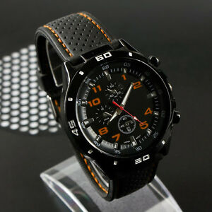 Cool-Men-039-s-Racer-Military-Pilot-Aviator-Army-Silicone-Sports-Watch-2018
