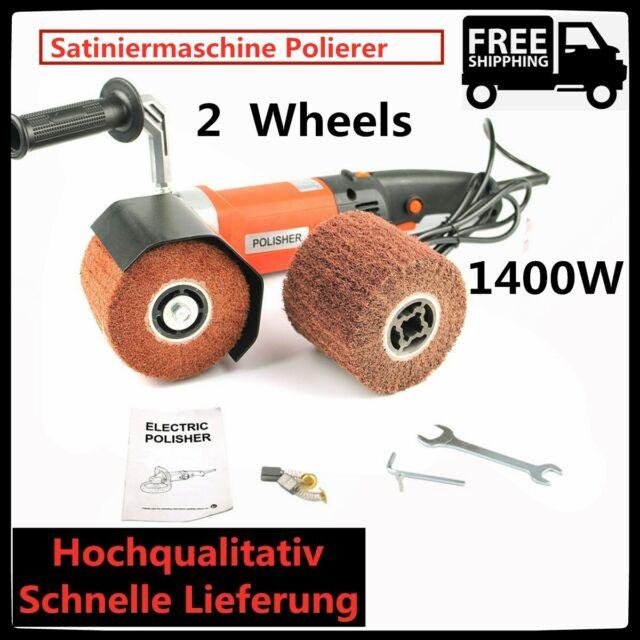 1400 W 230V Satiniermaschine Polieren Schleifmaschine Bürstenschleifer Sander