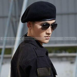 Womens Mens Beret Cap Special Forces Soldiers Death Squads Military ... f83c712ec62
