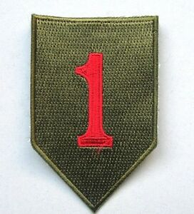 "Patch US 1st INFANTRY div. big Red One ""cut edge"" WWII Normandie - REPRO VOOqsY5n-09172348-800116598"