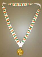 IRELAND OLYMPIC MEDAL - Gold Olympic Style Medal with Irish Lanyard (MI3)
