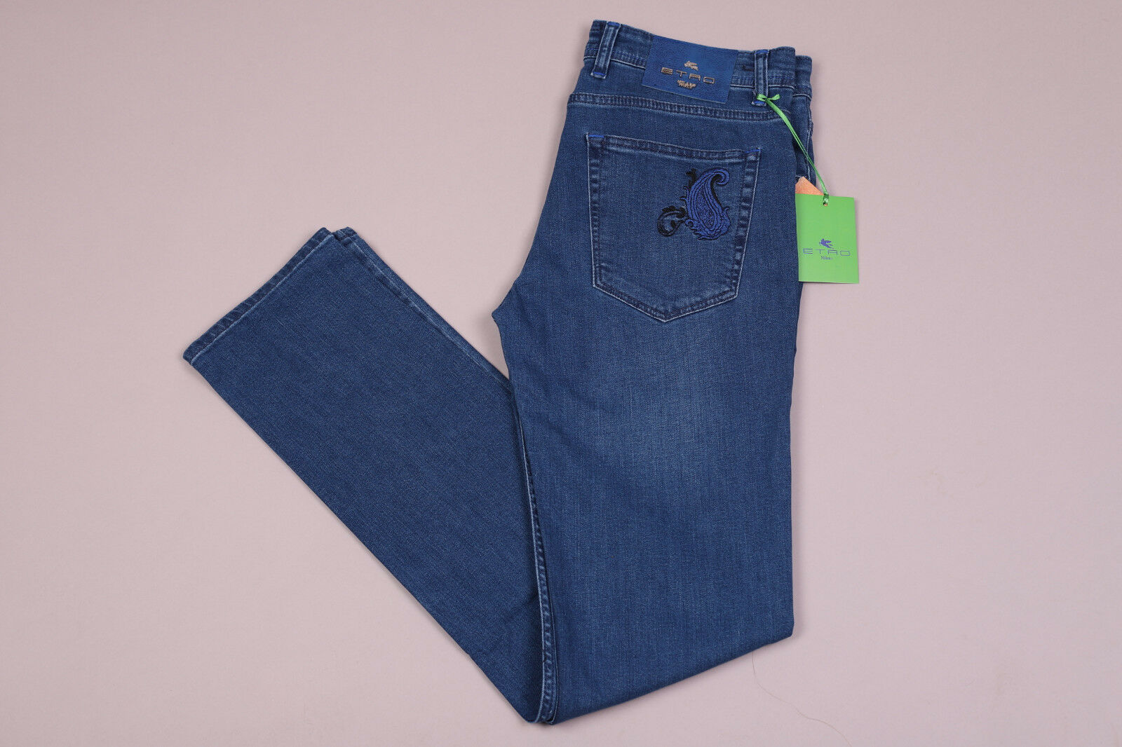 New Etro bluee Logo Men's Jeans  50056 Size 30