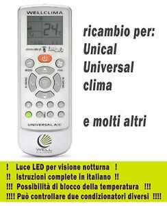 Telecomando condizionatore Unical - Universal Clima aria ...