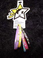 Neon Star Set Of 5 Rainbow Rubber Bracelets Fashion Jewelry Tokidoki Kawaii