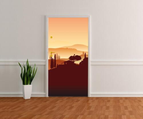 Türtapete Italienische Landschaft Natur Tapete Kunstdruck Türbild M0177