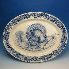 Clarice Cliff Royal Staffordshire - Blue Thanksgiving Turkey Platter - 20 by 15¾