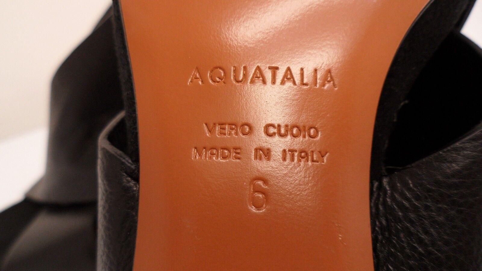Al por menor  450 Aquatalia bayleigh Negro de de de Piel de Becerro Charol Talla 6 Hecho en Italia 6d2cd8