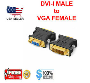 DVI-I-Male-Analog-24-5-to-VGA-Female-15-pin-Connector-Adapter-Desktop-PC
