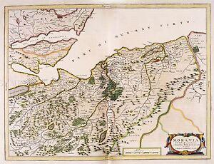 MAP-ANTIQUE-BLAEU-SCOTLAND-1654-NAIRN-MORAY-LARGE-REPLICA-POSTER-PRINT-PAM0616