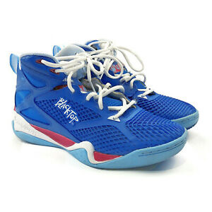 1280d02fe7a8 Details about Reebok Classics Men Blacktop Retaliate Mesh Basketball Shoes  Blue RD Wht Sz  11