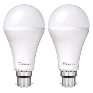 2x Laser 10W B22 Warm/Cool White Adjust Smart LED Light Bulb WiFi App Control