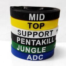 New 6pcs LOL League of Legends ADC Jungle Support Top Mid Penta Bracelet Bangle