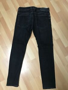 WORN-look-da-Uomo-DIESEL-troxer-Stretch-Denim-R9F66-NERO-SLIM-W32-L30-H6-RRP-150